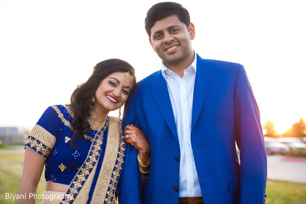 Insanely cute Indian bride and groom to be. in Houston, TX Indian Wedding by Biyani Photography