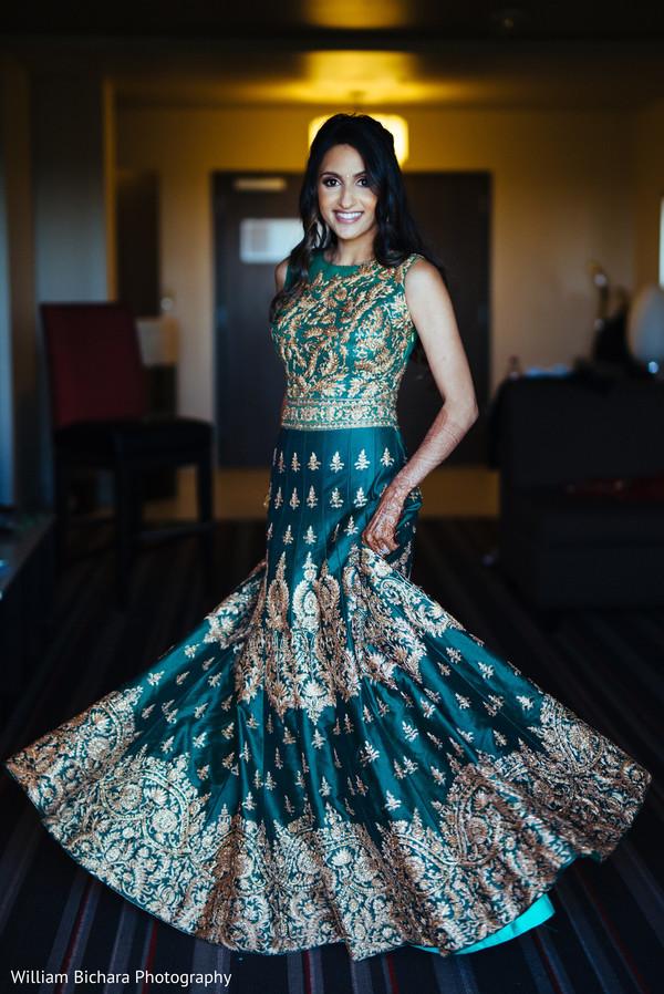 indian bride,reception lehenga