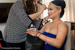 indian bride,getting ready,hair and makeup,indian bridal jewelry