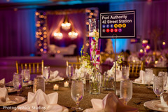 indian wedding reception,table number,planning and design