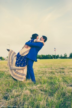 Utterly romantic fine Indian wedding portrait.
