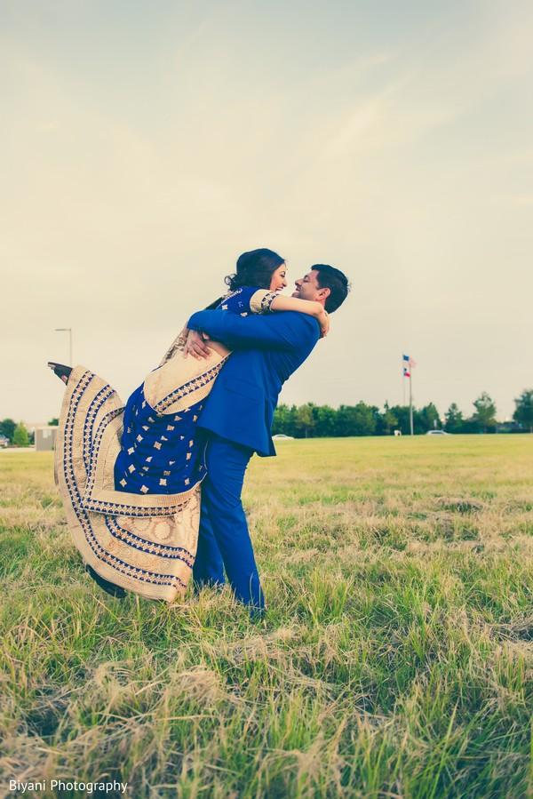 Utterly romantic fine Indian wedding portrait. in Houston, TX Indian Wedding by Biyani Photography