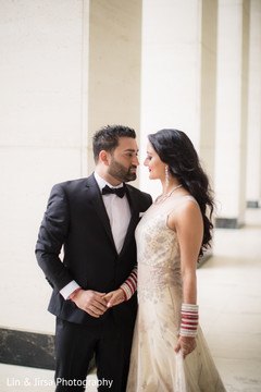beige bridal gown,indian groom fashion ideas