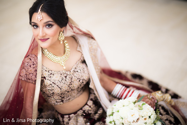 bridal lengha,burgundy lengha,indian bride fashion