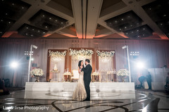 first dance,indian newlyweds,indian wedding reception