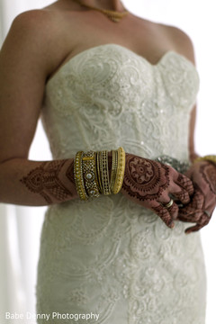 white wedding dress,bridal fashion,bridal mehndi,indian bride bangles
