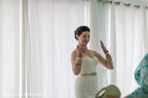 Indian bride fusion look.