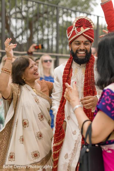 Joyful Indian groom. in Key Largo, FL South Asian Fusion Wedding by Babe Denny Photography