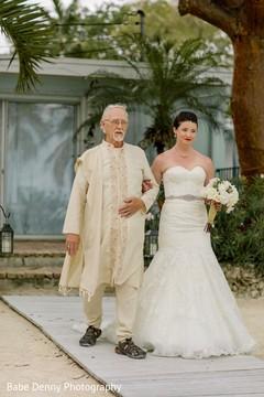 indian bride,indian wedding ceremony,white wedding dress