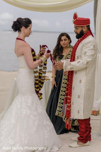 Beautiful Indian fusion wedding ceremony.