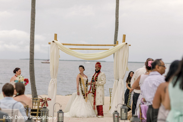 Perfect Indian wedding fusion at the beach. in Key Largo, FL South Asian Fusion Wedding by Babe Denny Photography
