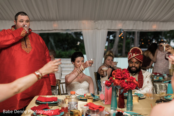 Indian fusion wedding soiree. in Key Largo, FL South Asian Fusion Wedding by Babe Denny Photography
