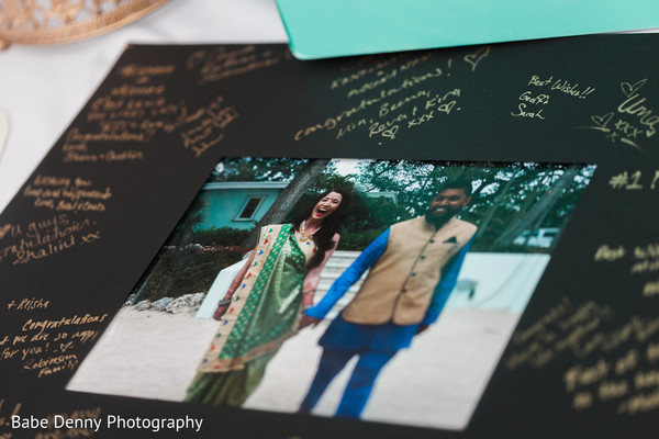 Romantic guest book. in Key Largo, FL South Asian Fusion Wedding by Babe Denny Photography