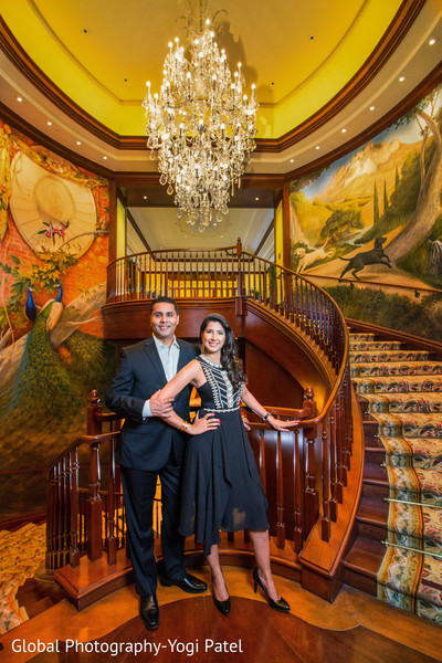 Beautiful indian engagement gown in California Engagement Shoot by Global Photography