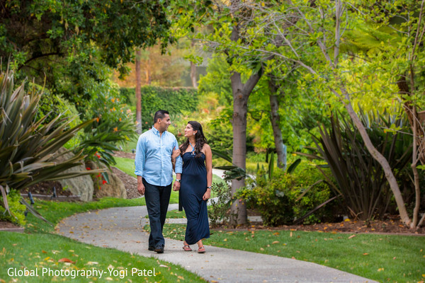Lovely outdoor indian engagement photo in California Engagement Shoot by Global Photography