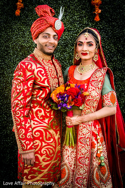 indian bride fashion,indian groom fashion,bridal jewelry,indian bride and groom portrait