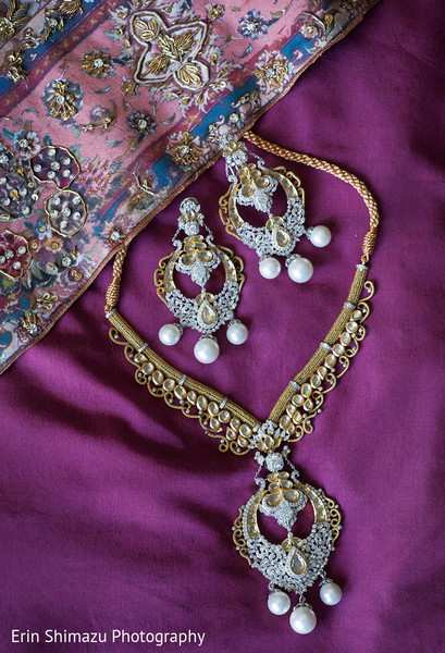 Gorgeous white and gold kundan