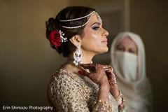 Lovely indian bride hair-do