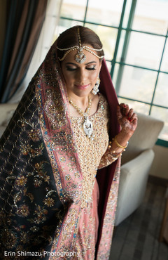 bridal lengha,pink and blue lengha,indian bride fashion