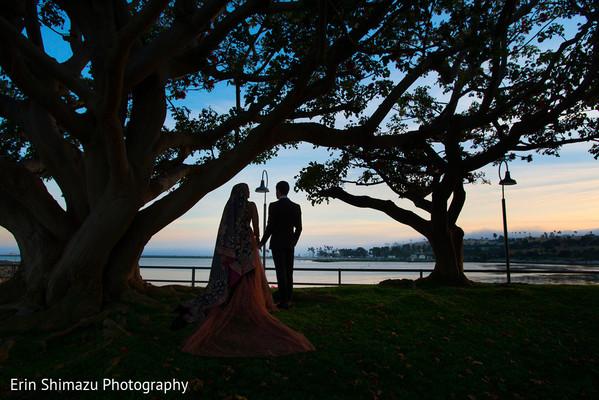 Outdoor indian wedding photo