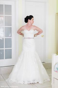 indian bride,white wedding dress,getting ready