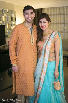 pre-wedding fashion,parsi bride and groom,getting ready,lehenga