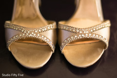 getting ready,indian bride fashion,bridal shoes