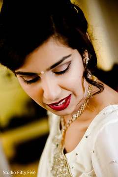 getting ready,indian parsi bride,hair and makeup