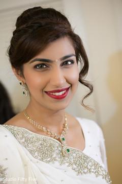 indian parsi bride,hair and makeup