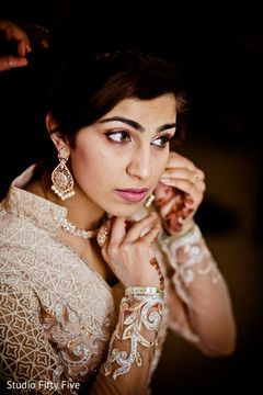indian bride fashion,getting ready,hair and makeup