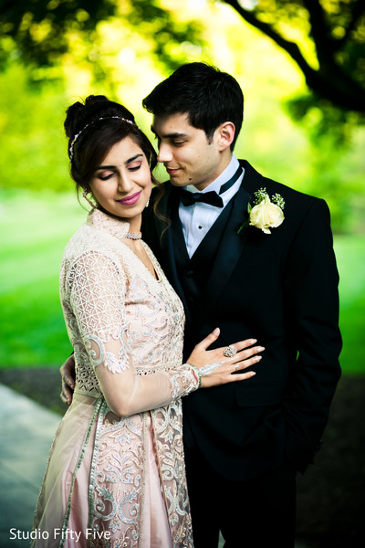 Indian Parsi bride and groom loving capture.