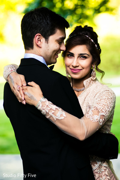 Adorable Indian bride and groom's reception photo shoot..