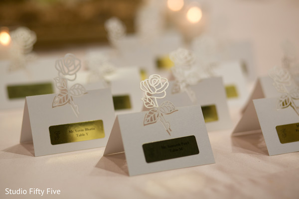 indian wedding reception,floral and decor,seating cards