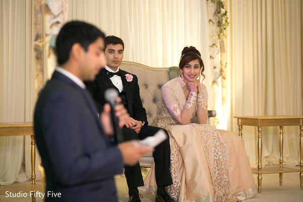 Heartwarming Indian wedding speech. in New York Fusion Wedding by Studio Fifty Five