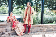 indian bride and groom,outdoor photography,bridal jewelry