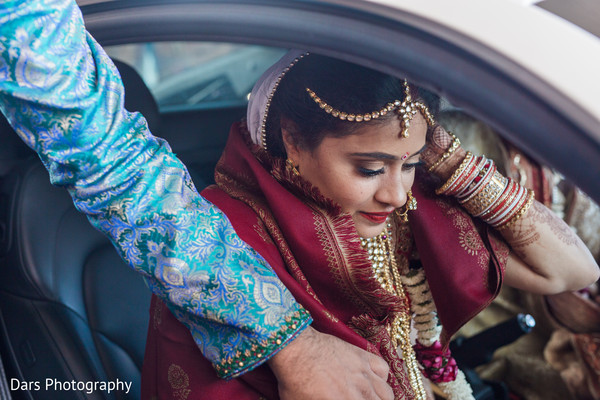 Emotional indian bride's vidaai in Streemwood, IL Indian Wedding by Dars Photography