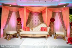 indian wedding reception,reception stage,indian wedding reception floral and decor