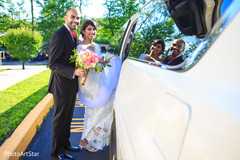 indian fusion wedding,indian bride and groom,transportation