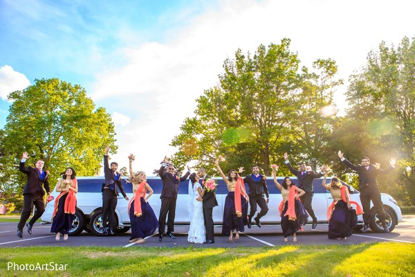 indian bridesmaids,indian groomsmen,transportation