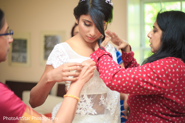 indian bride,sari draping,getting ready
