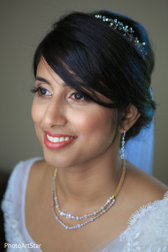 indian fusion wedding ceremony,indian bride,bridal jewelry,hair and makeup