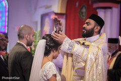 indian fusion wedding ceremony,indian bride and groom