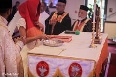 indian fusion wedding ceremony,indian bride