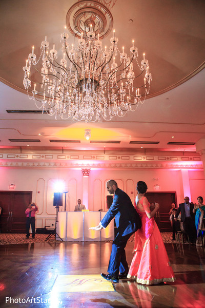 indian fusion wedding,indian bride and groom,indian wedding reception,dj