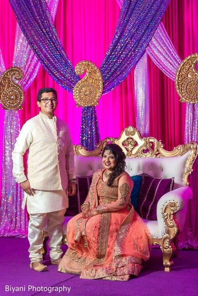 Lovely indian bride and groom portrait