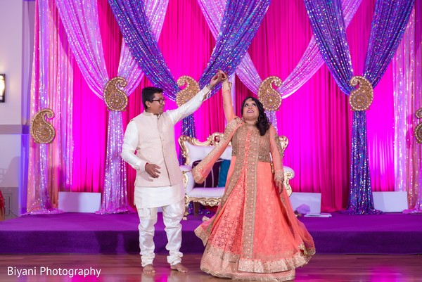 Traditional indian couple's performance