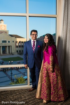 indian bride and groom portrait,indian wedding reception,indian bride fashion,indian groom suit