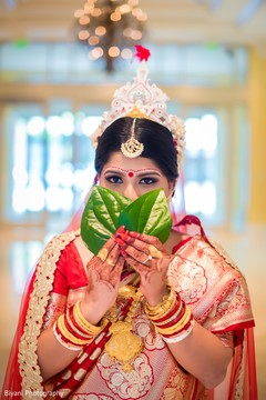 Flawless indian bride's wedding ceremony look