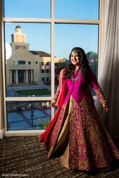 Indian bride reception look