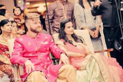 sangeet,pre-wedding celebrations,indian bride and groom